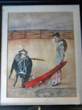 Oil Painting Of A Spain Matador