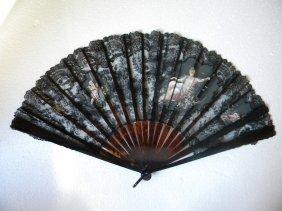 Antique Tortoise Shell Lace Fan