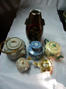 Group Six Of Different Japanese Porcelains