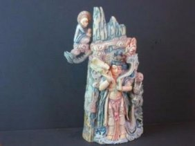 Mammoth Ivory Guangying Statue
