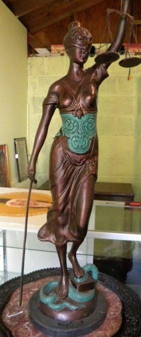 Antique Bronze God Statue