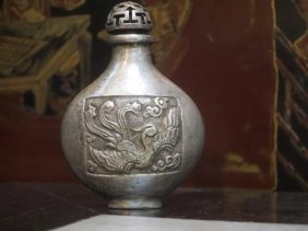 Very Rare Chinese Silver Snuff Bottle