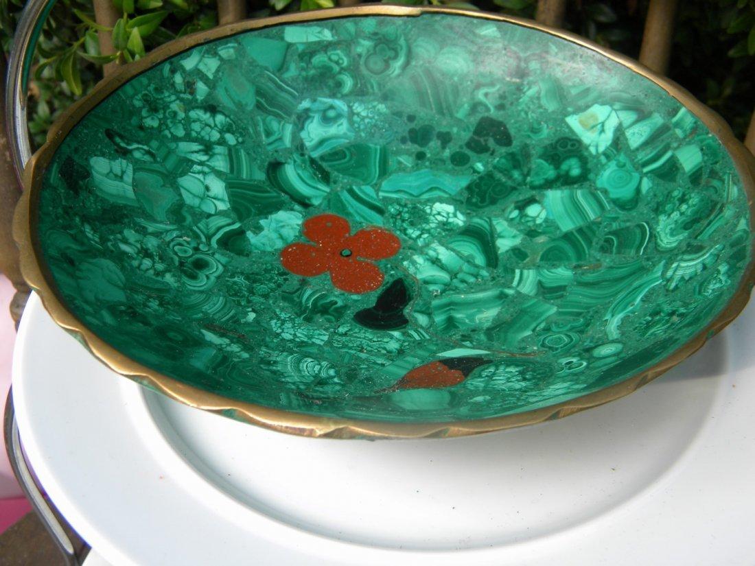 Antique Malachite Big Bowl