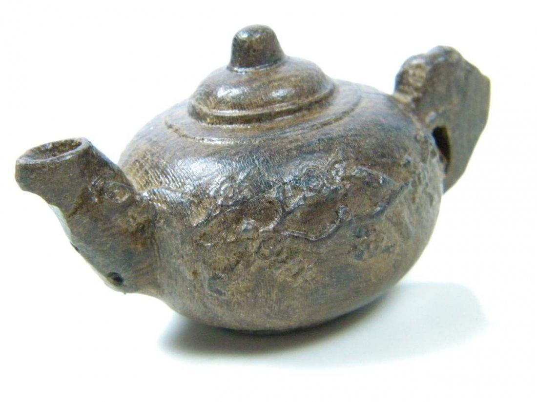 Antique Chinese Chen Xiang Carved Teapot
