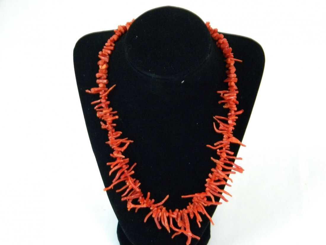 Antique Chinese Branch Coral Necklace