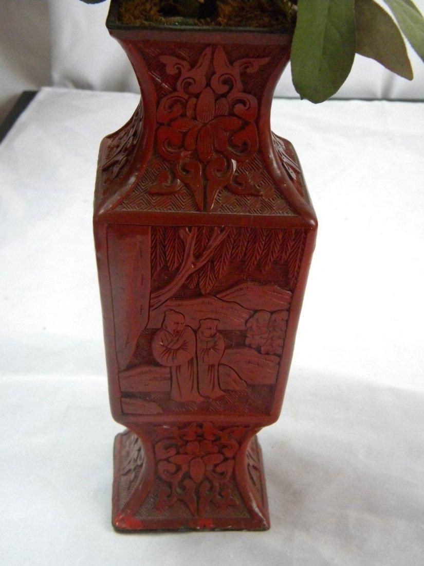 Antique Chinese Cinnabar Vase