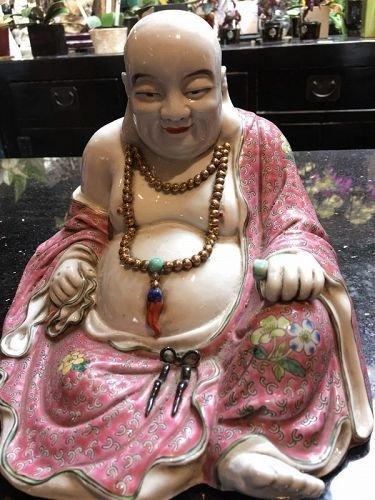 Chinese Porcelain Happy Buddha Hotai statue