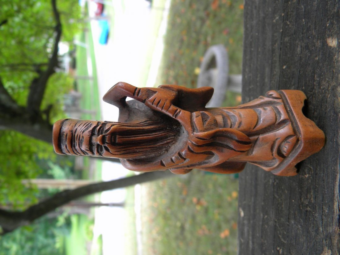 Vintage Chinese Rosewood Carved Man Statue