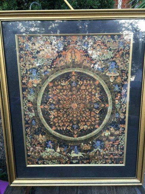 Antique Tibet Tangka Framed