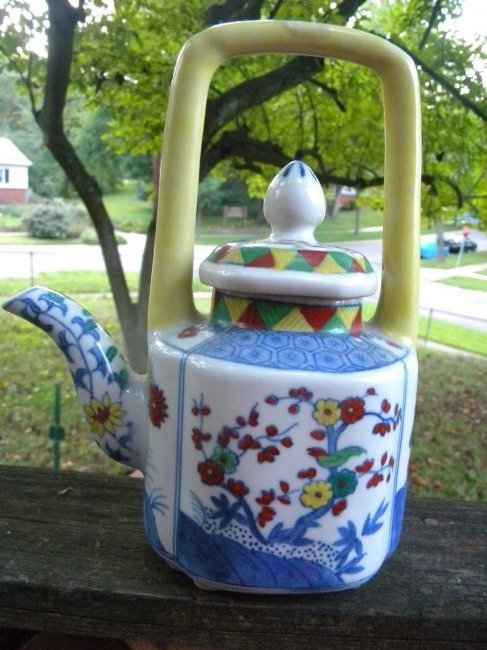 Chinese Colorful porcelain Teapot