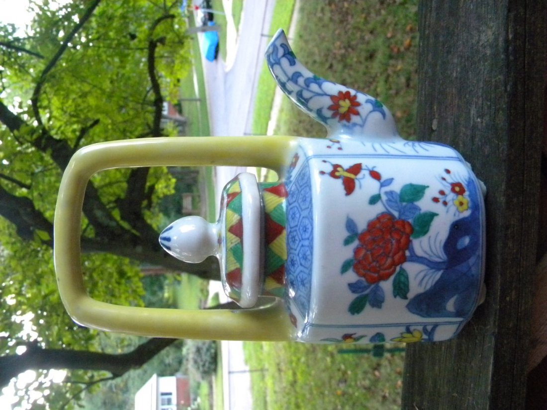Chinese Colorful porcelain Teapot - 3