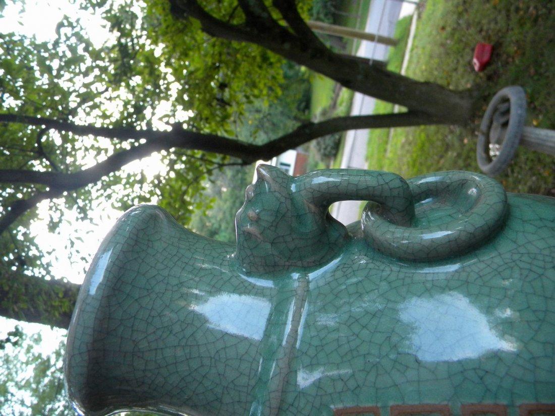 Antique Chinese Celadon Ge Style Vase - 4