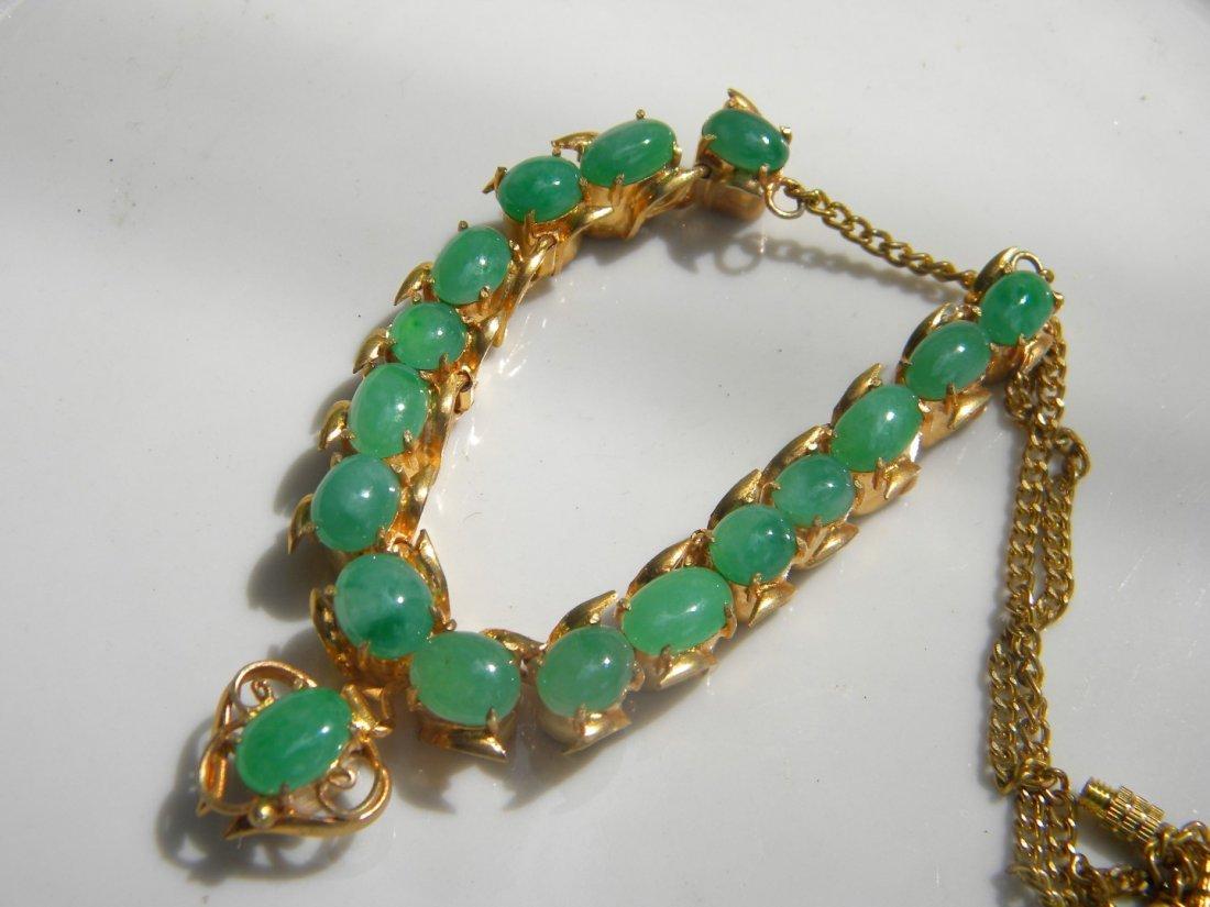 GIA Certified Green Jadeite Necklace