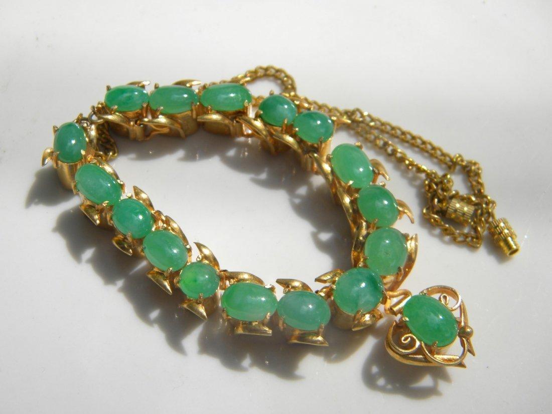 GIA Certified Green Jadeite Necklace - 2