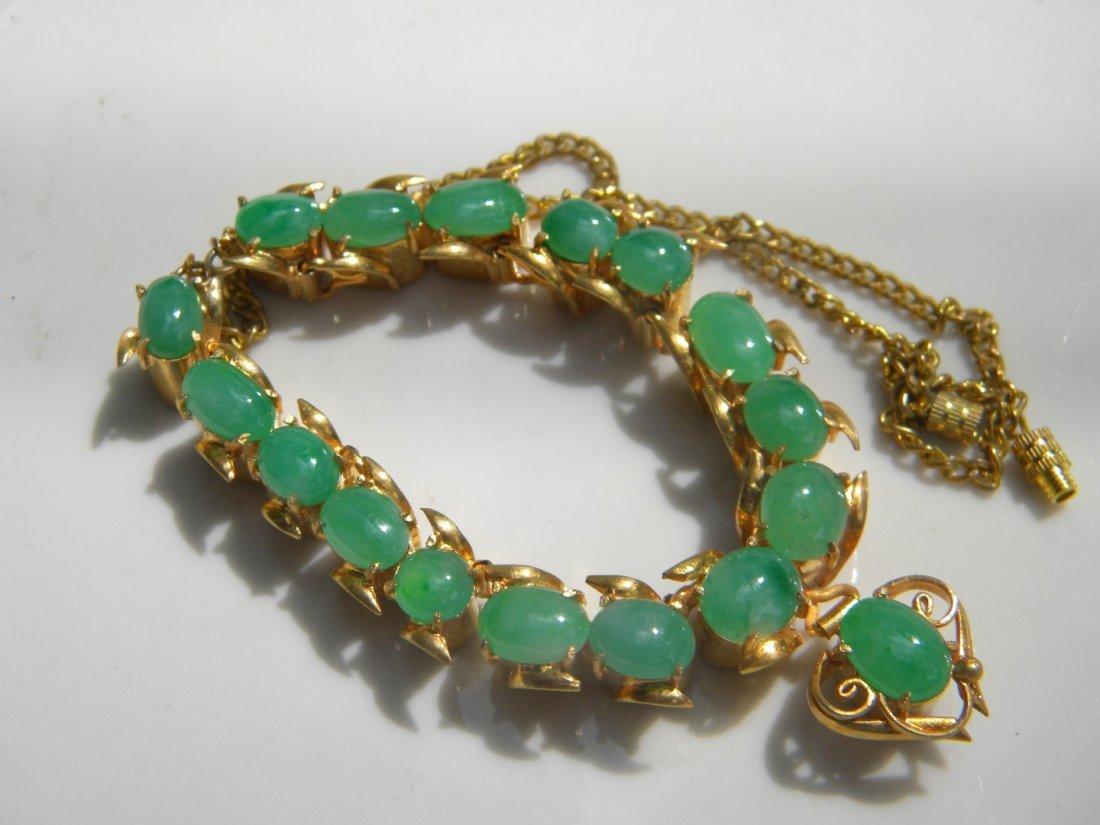 GIA Certified Green Jadeite Necklace - 3