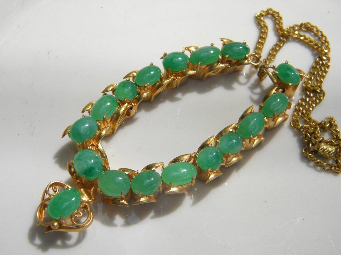 GIA Certified Green Jadeite Necklace - 4