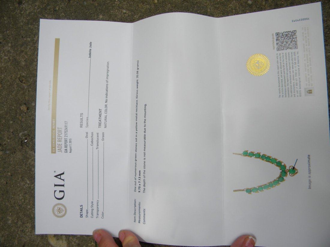 GIA Certified Green Jadeite Necklace - 5