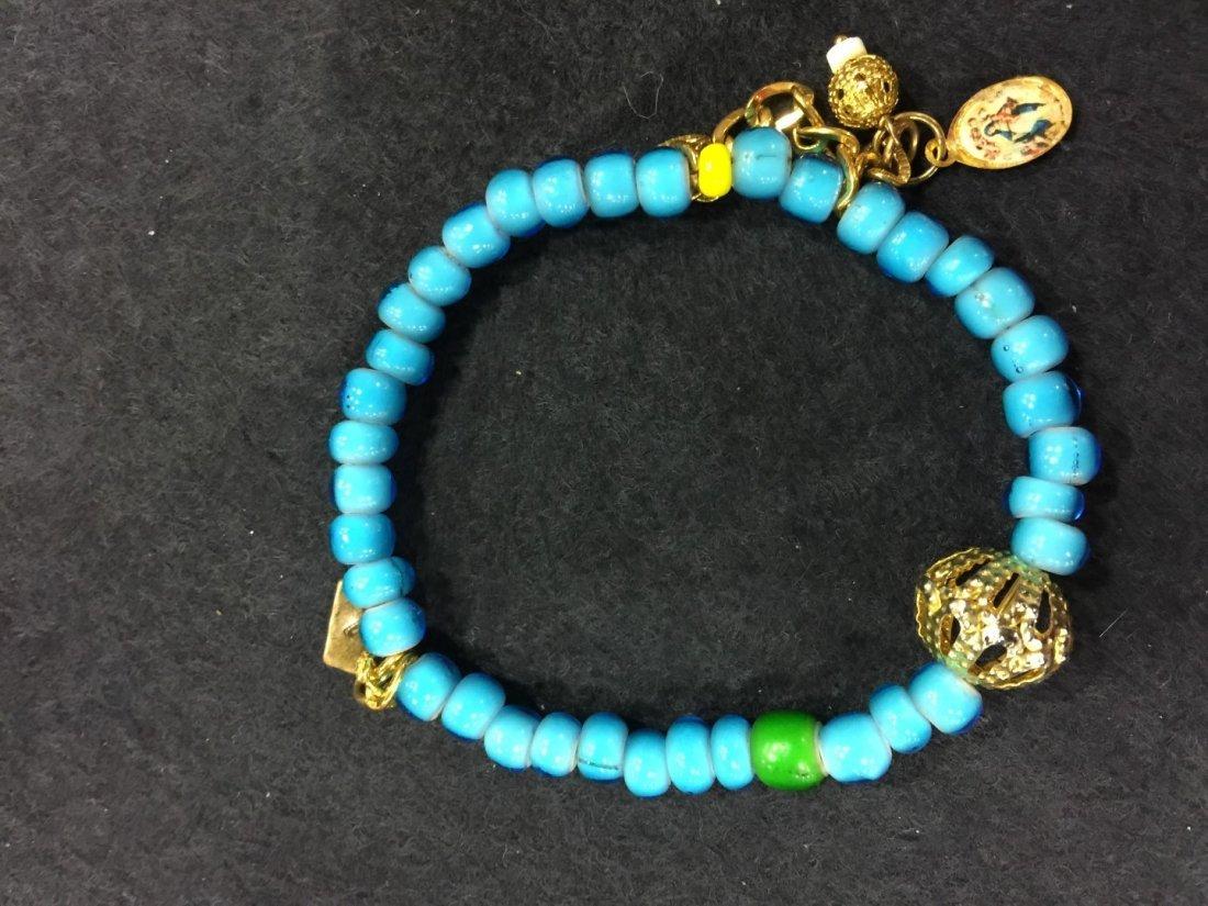 Antique Blue Beads Bracelet