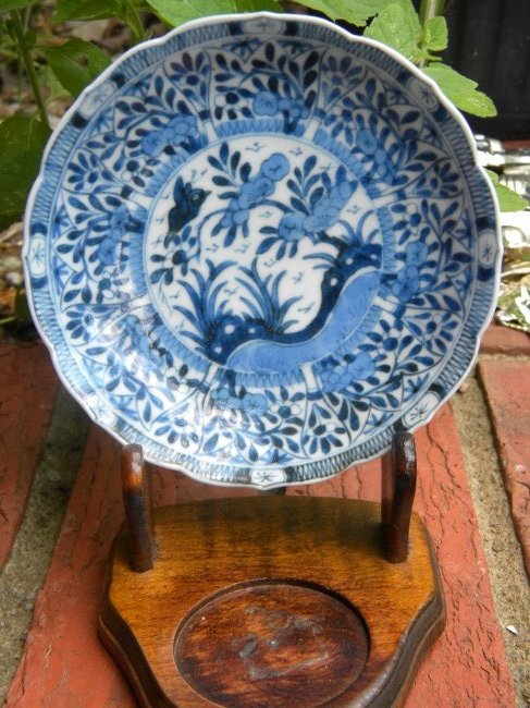 Antique Chinese Blue and White Kangxi Period Dish