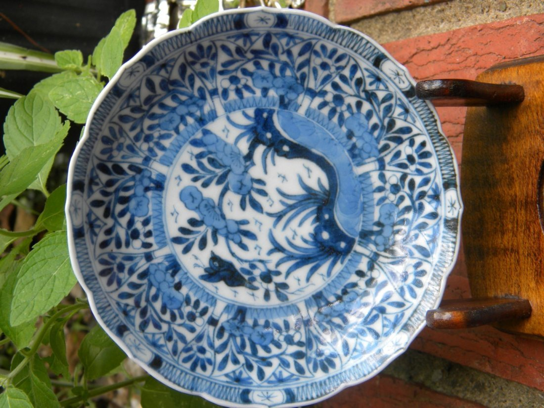 Antique Chinese Blue and White Kangxi Period Dish - 2