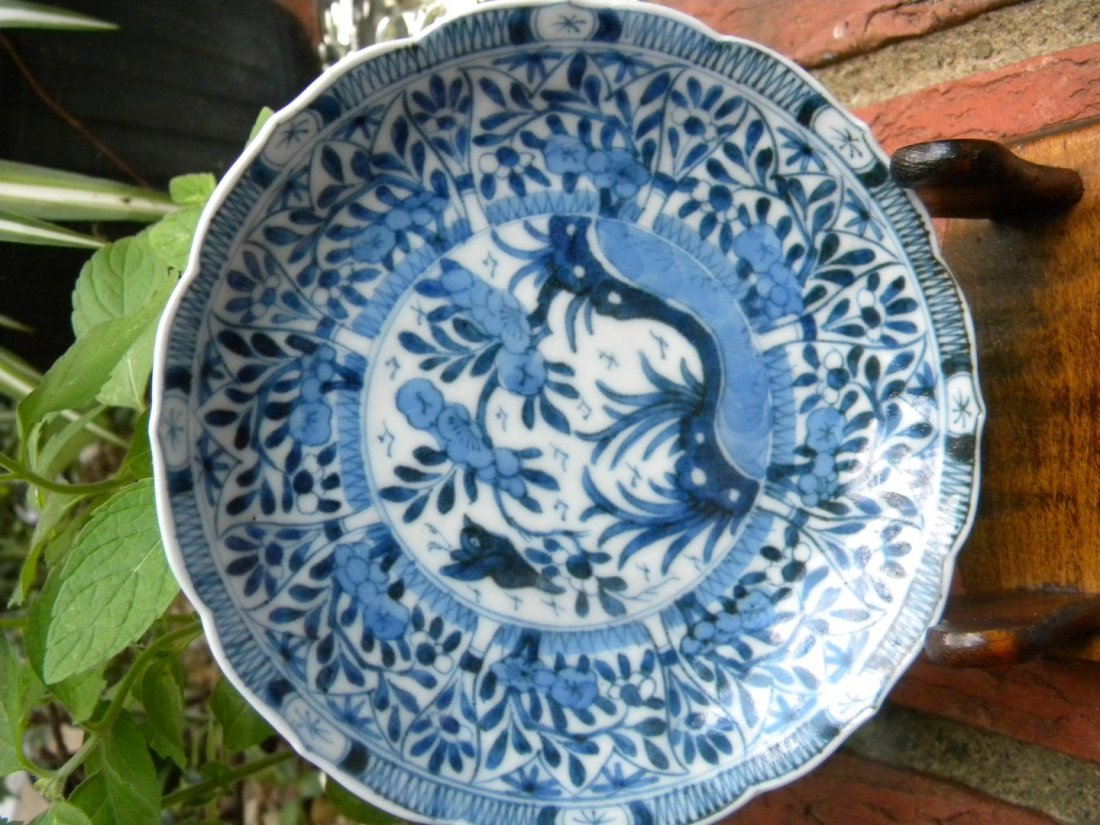 Antique Chinese Blue and White Kangxi Period Dish - 3