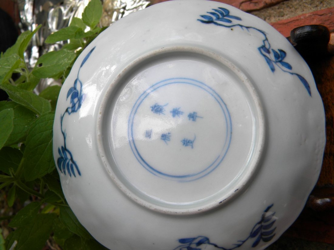 Antique Chinese Blue and White Kangxi Period Dish - 4