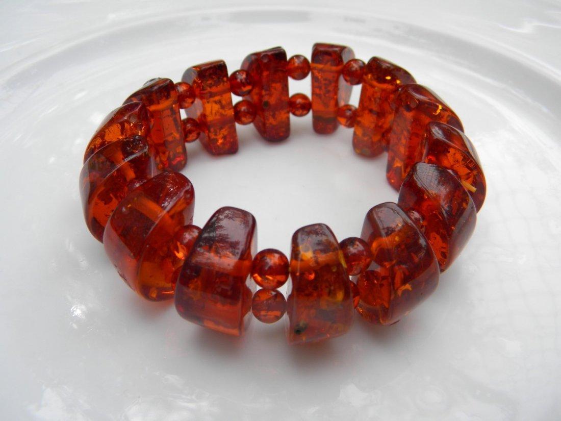 Vintage Baltic Amber Bracelet - 2