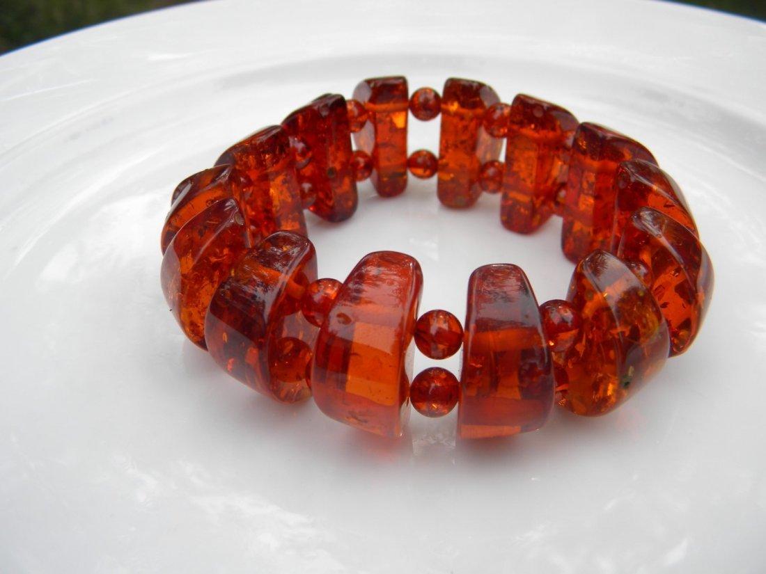 Vintage Baltic Amber Bracelet - 3