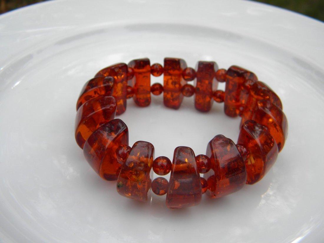 Vintage Baltic Amber Bracelet - 4