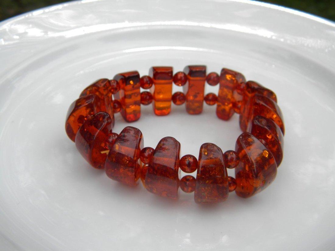 Vintage Baltic Amber Bracelet - 5