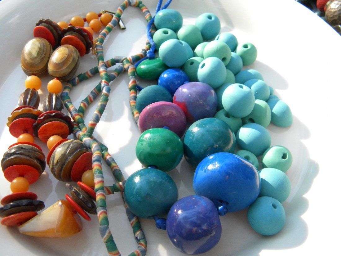Antique African Exchange Beads and Necklaces