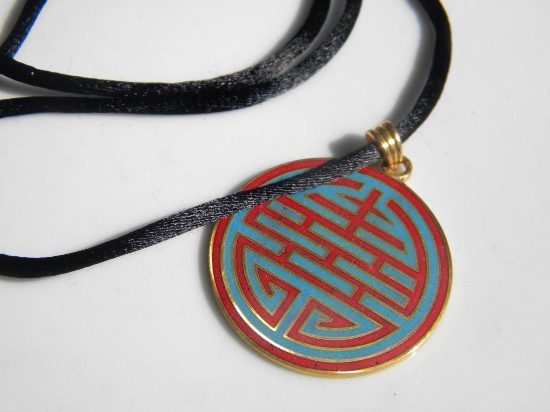 Silver Longevity Pendant Necklace