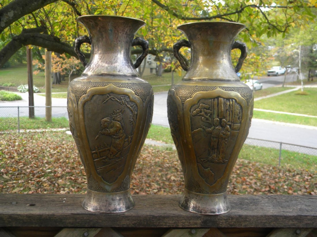 Pair of Antique Chinese Vases - 3