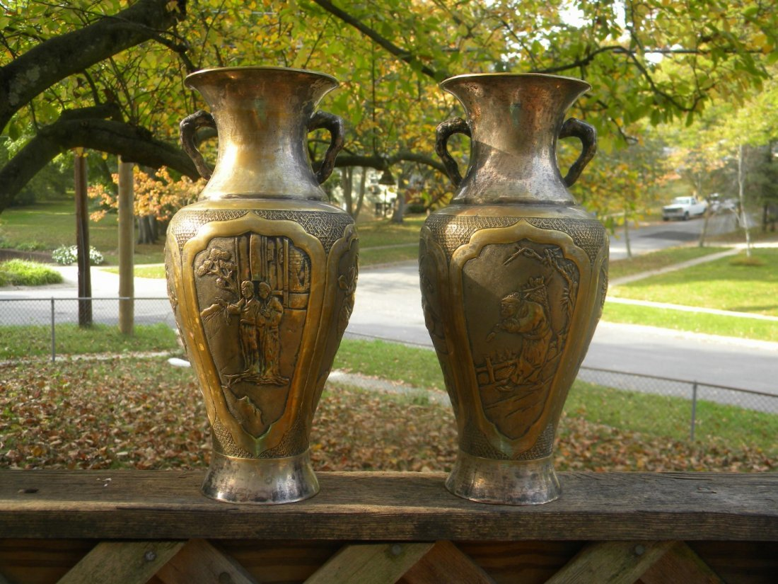 Pair of Antique Chinese Vases - 4