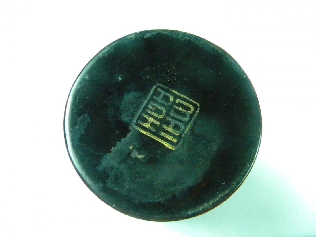 Vintage Laqcuer Phoenix Brush Holder - 4