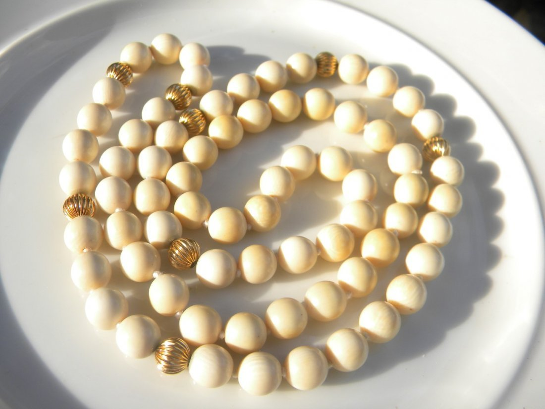 Antique Chinese Round Beads Necklace - 2
