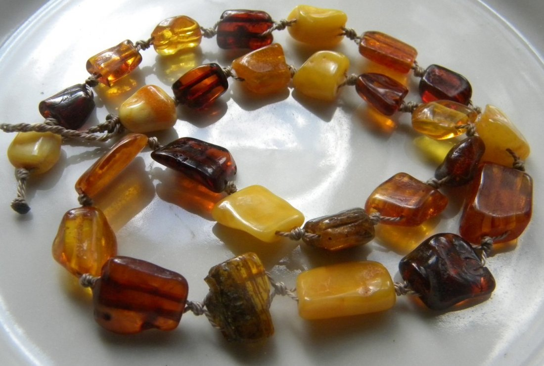 Antique Baltic Butter Scotch Amber Necklace