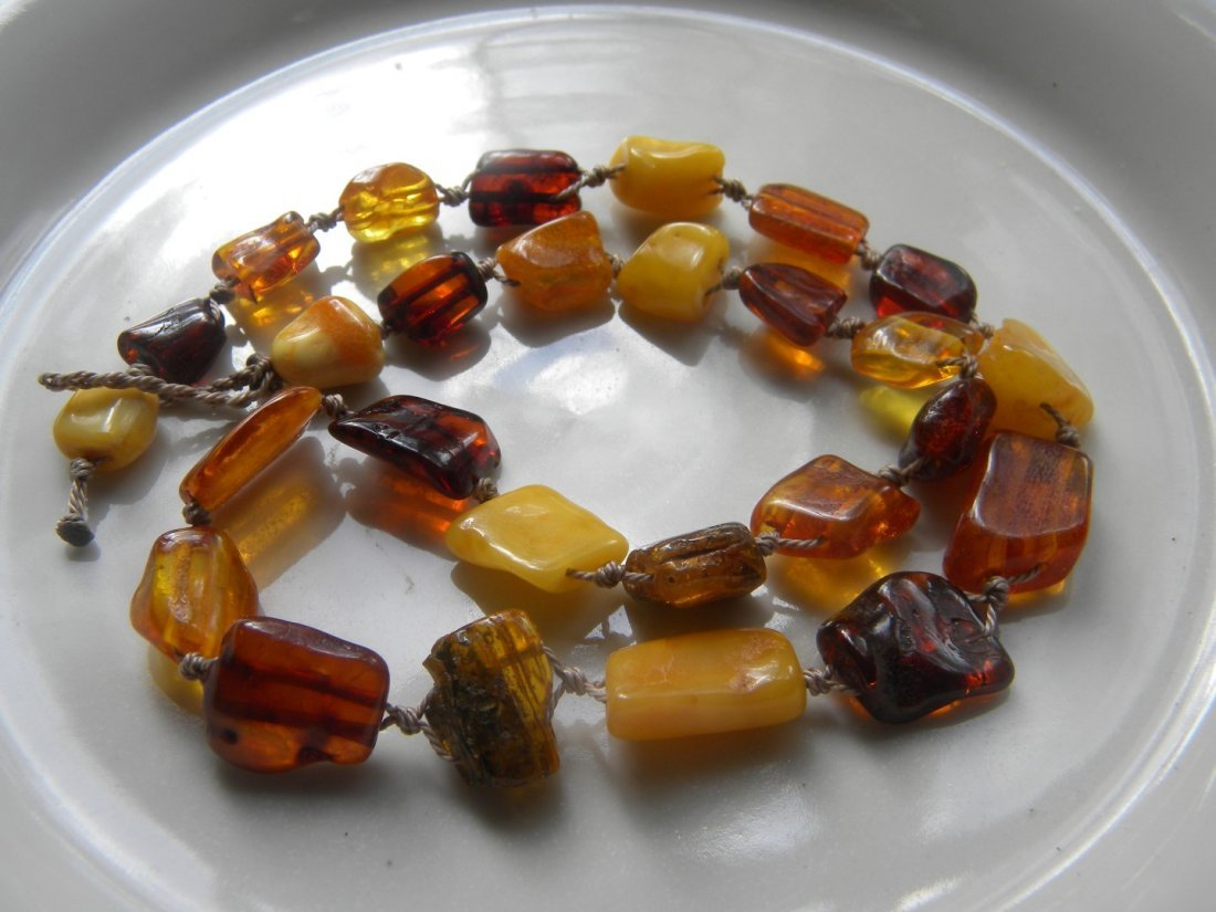 Antique Baltic Butter Scotch Amber Necklace - 2