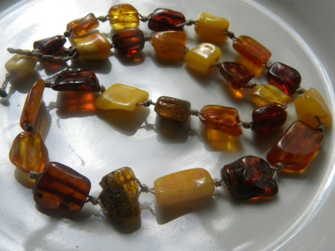 Antique Baltic Butter Scotch Amber Necklace - 4