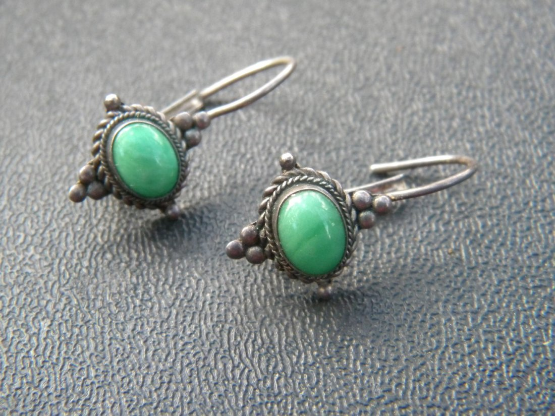 Pair of Antique Silver Earrings