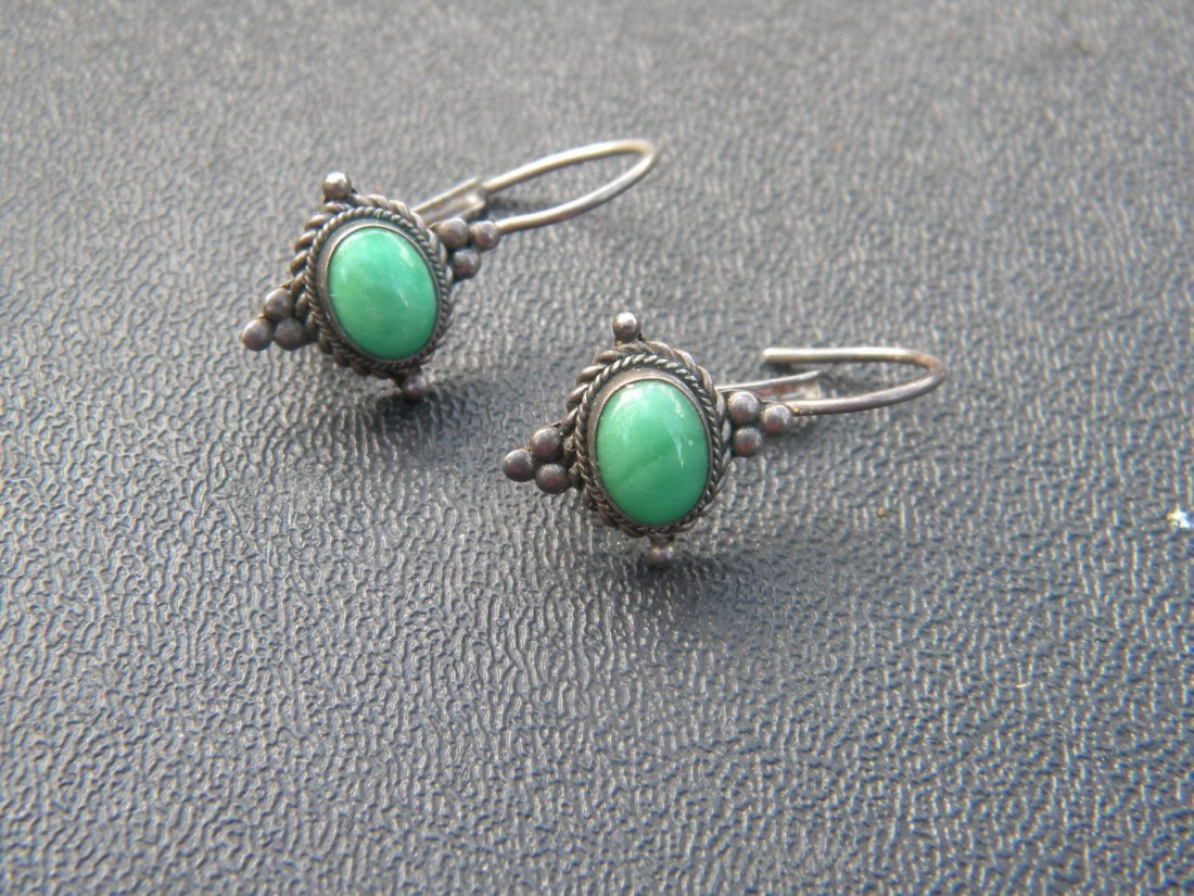 Pair of Antique Silver Earrings - 2