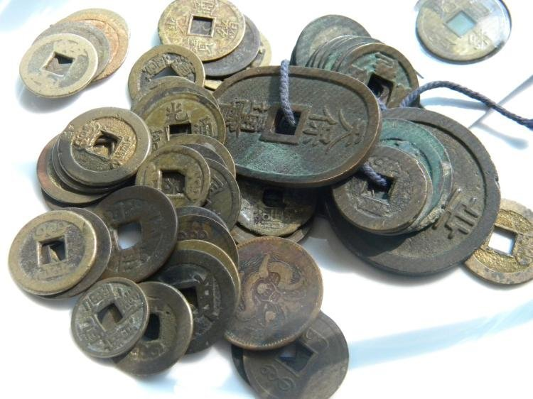 Group of Antique Chinese Copper Money