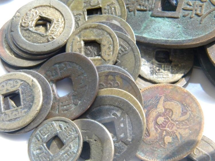 Group of Antique Chinese Copper Money - 2