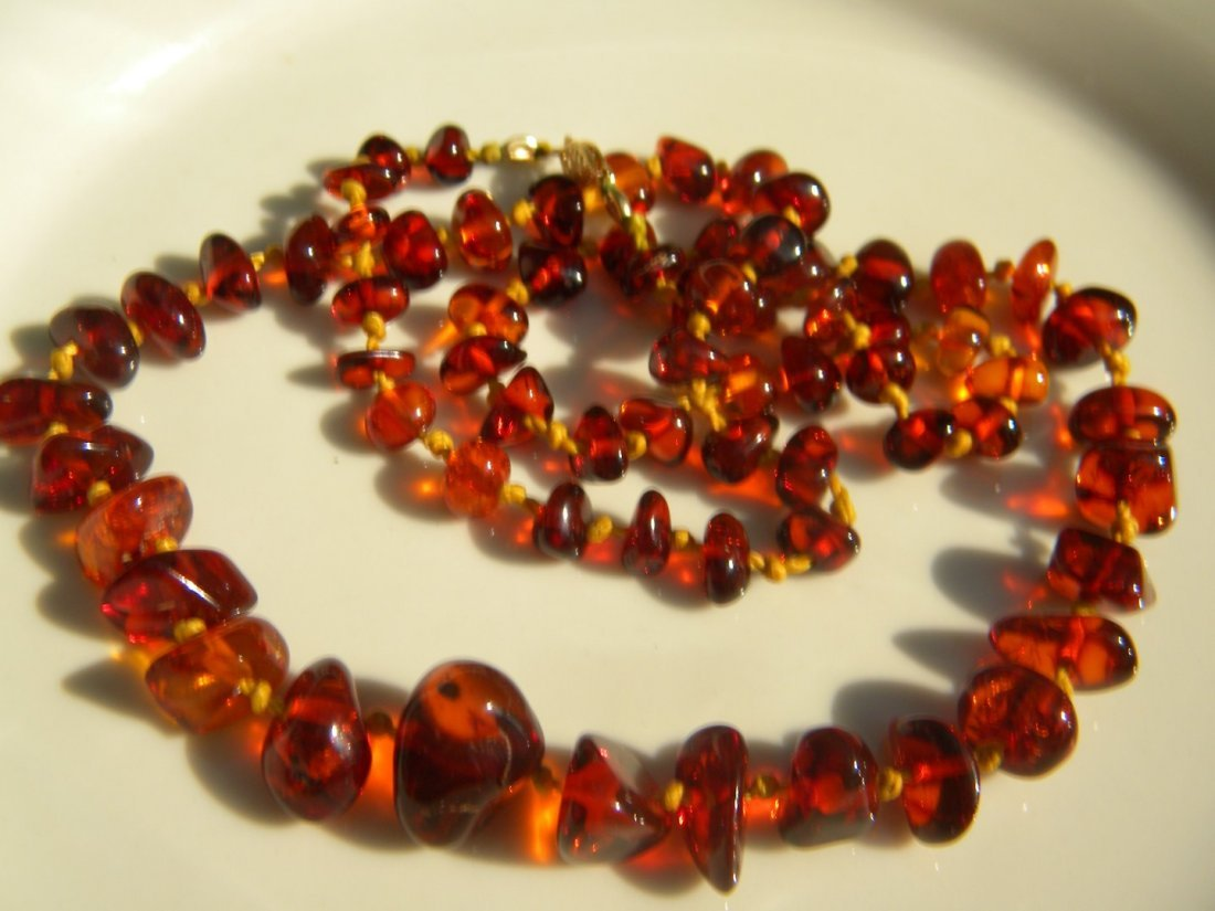 Antique Baltic Amber Necklace - 5