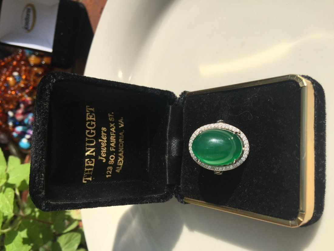 Vintage Green Stone Ring - 2