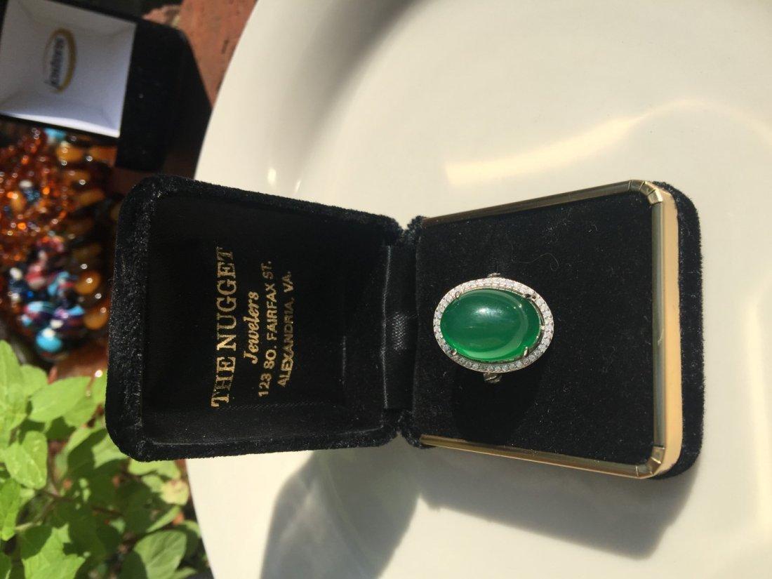 Vintage Green Stone Ring - 3