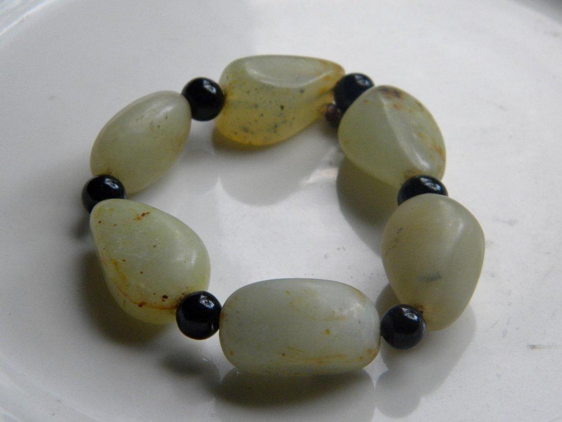 Antique Chinese Jade Pebble Bracelet - 2