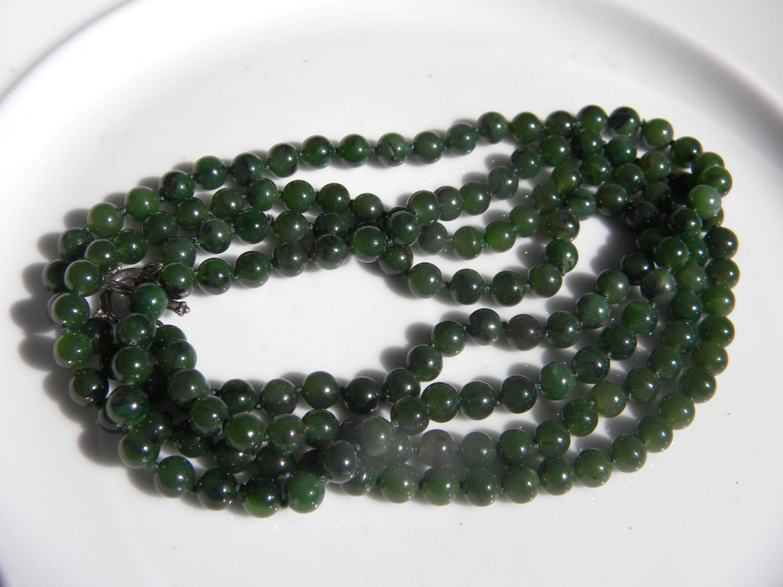 Natural Green Nephrite Jade Necklace