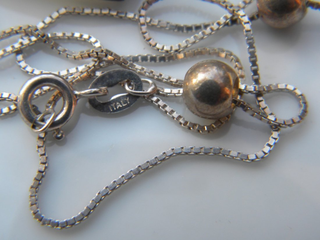 Group of Jewelries including a sterling necklace - 2