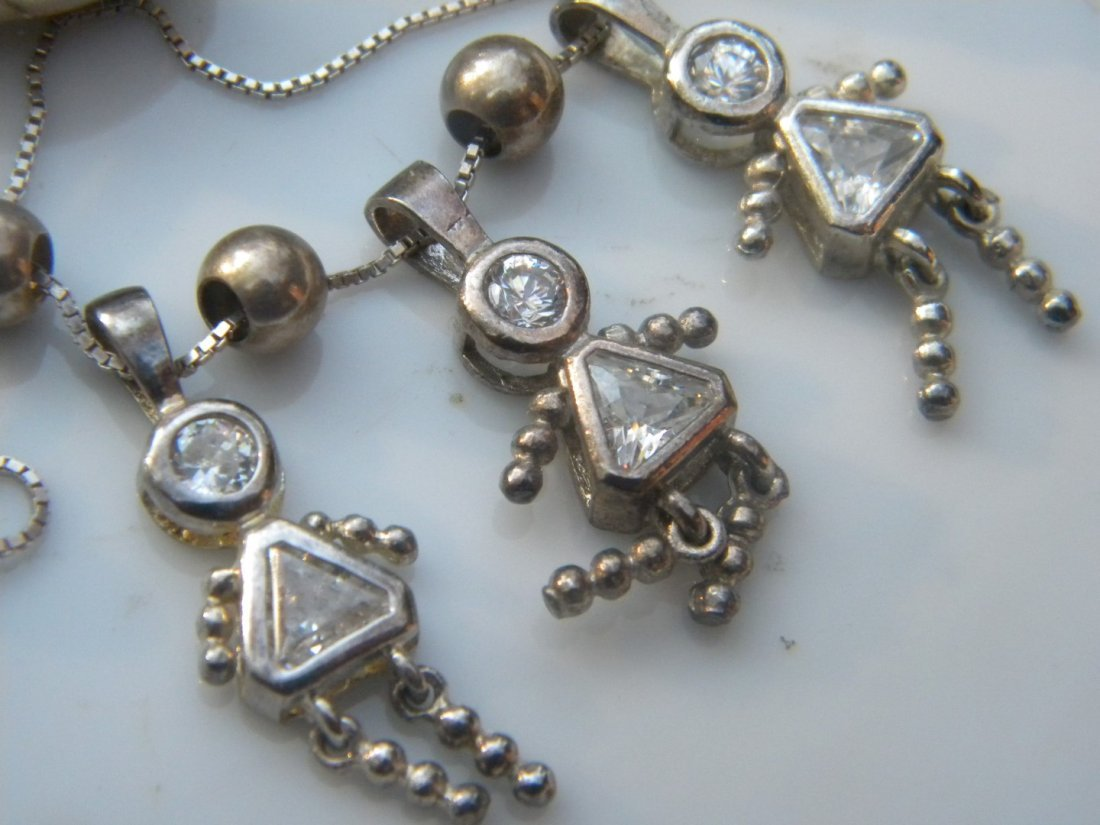 Group of Jewelries including a sterling necklace - 3